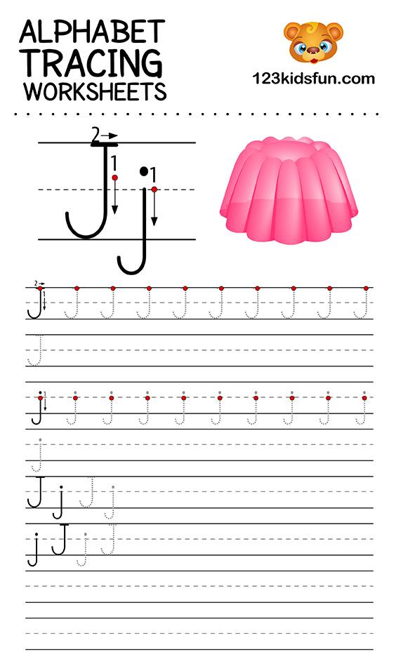 alphabet tracing j