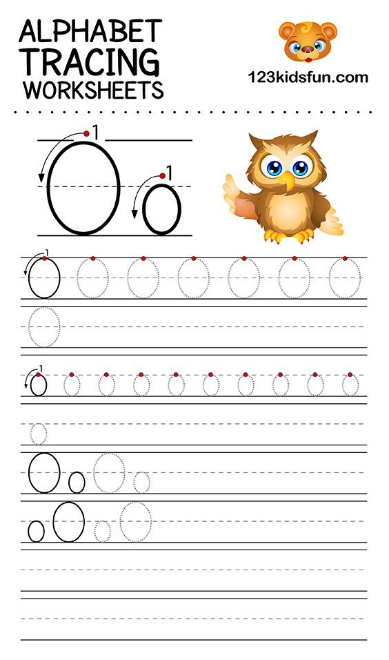alphabet tracing o