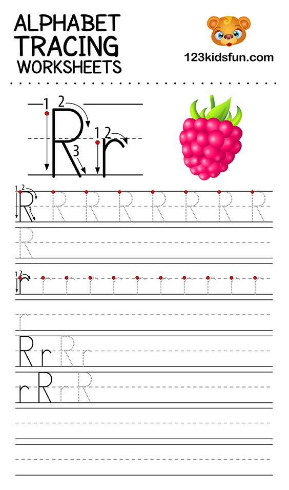 alphabet tracing r