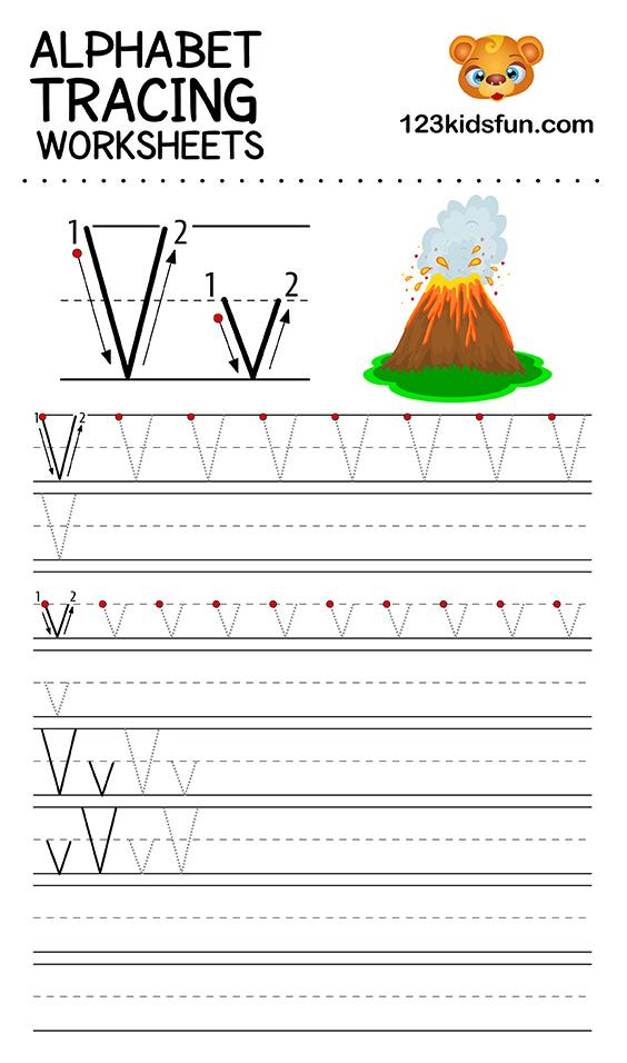alphabet tracing v