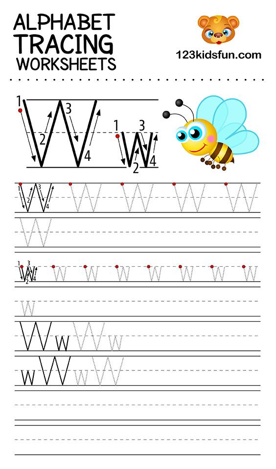 alphabet tracing w