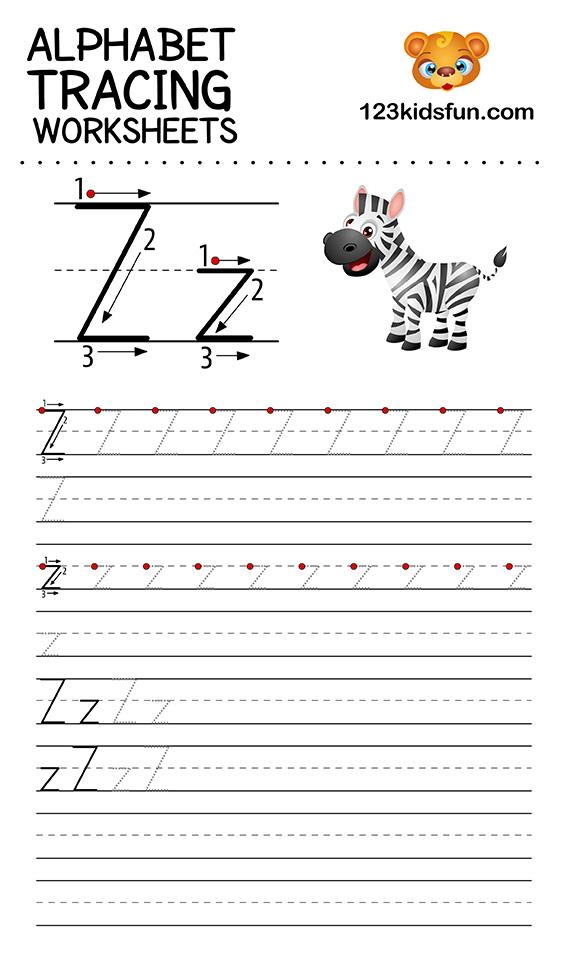alphabet tracing z