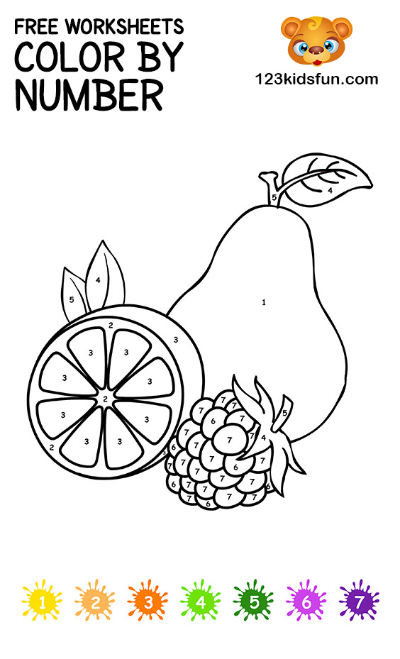 Color By Number Printable Coloring Page
