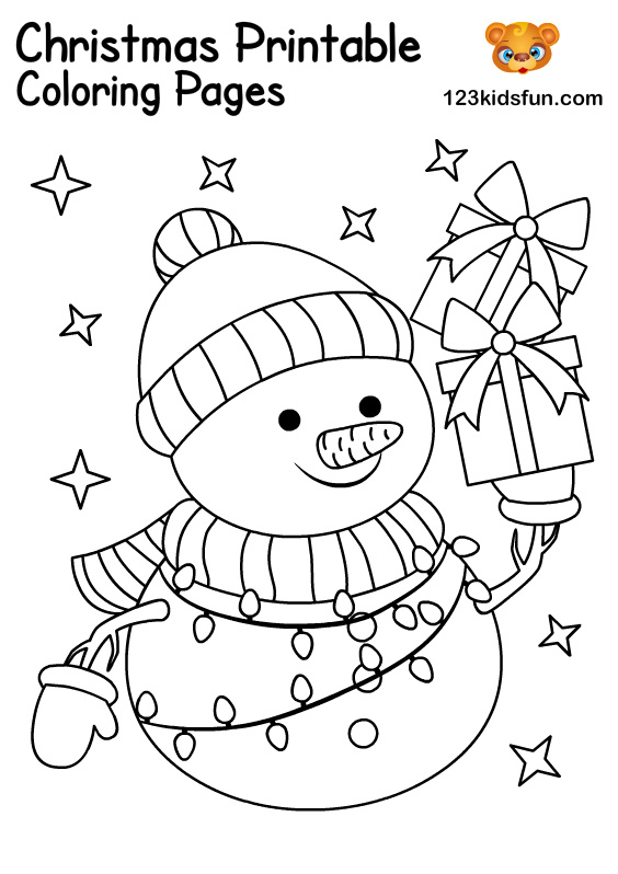 Snowman - Christmas Coloring for Kids
