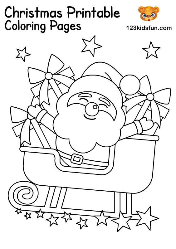Santa Claus - Christmas Coloring for Kids