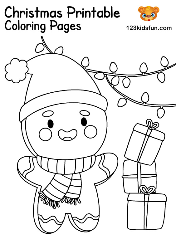 Gingerbread - Christmas Coloring for Kids