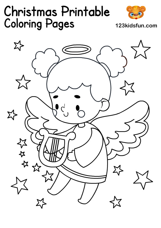 Angel - Christmas Coloring for Kids