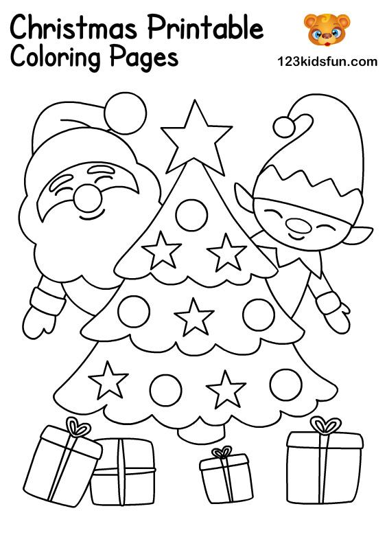 Free Christmas Printables For Kids 123 Kids Fun Apps
