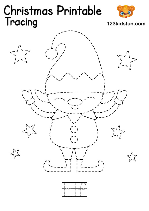 Elf - Christmas Tracing Printable