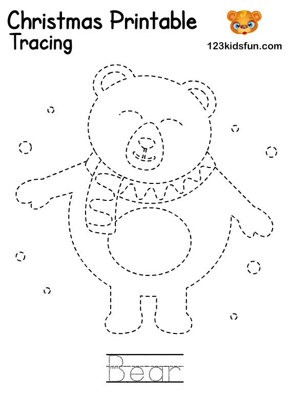 Bear - Winter Tracing Word Printable