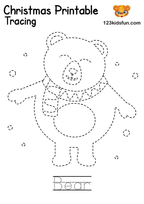 Bear - Winter Tracing Word Printable