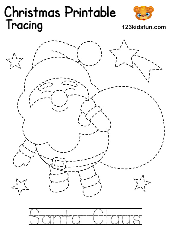 Santa Claus - Christmas Tracing Printable