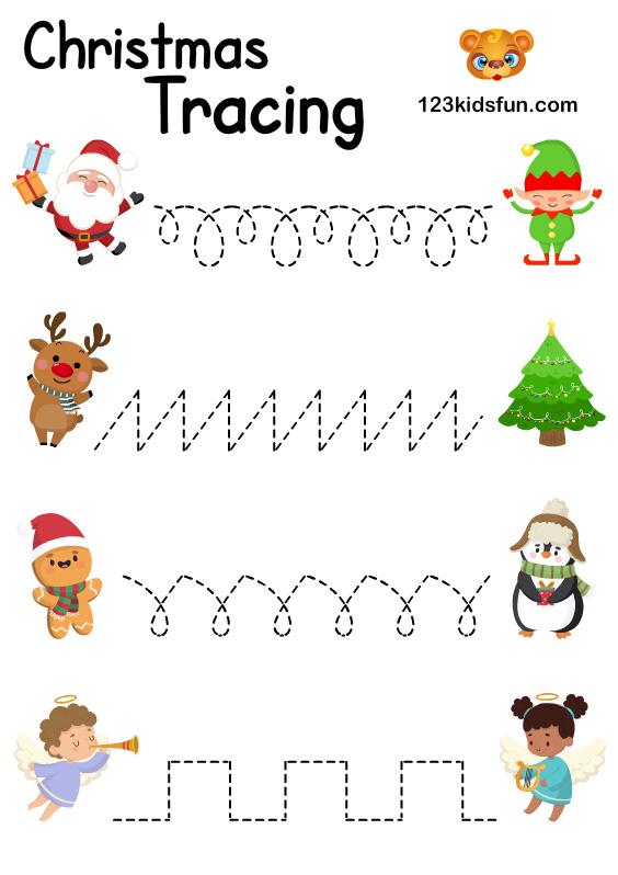 Tracing Santa Claus – Homeschooling