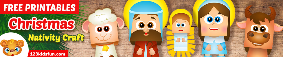 Nativity Crafts for Kids free Printables