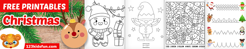 Free Christmas Printables for Toddlers & Preschoolers