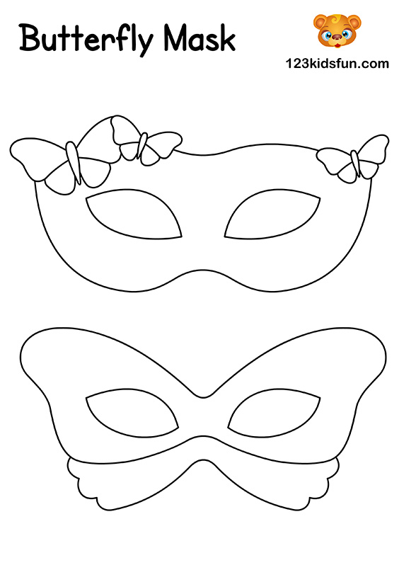 Butterfly Mask - Printable Mask Template