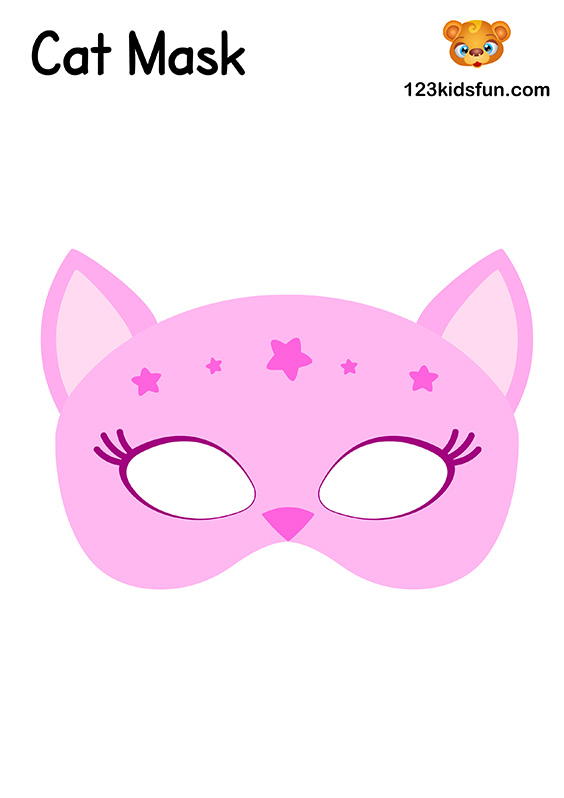 Cat Mask - Printable Mask Template