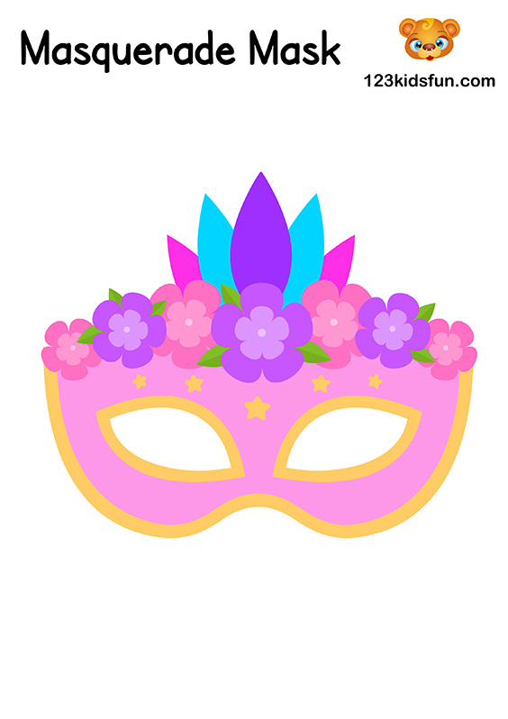 Masquerade Mask - Printable Mask Template