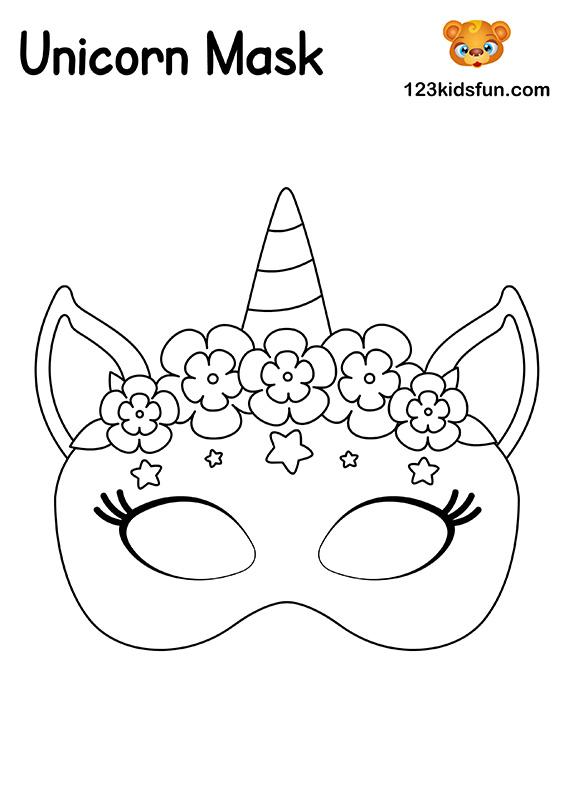 Unicorn Mask - Printable Mask Template
