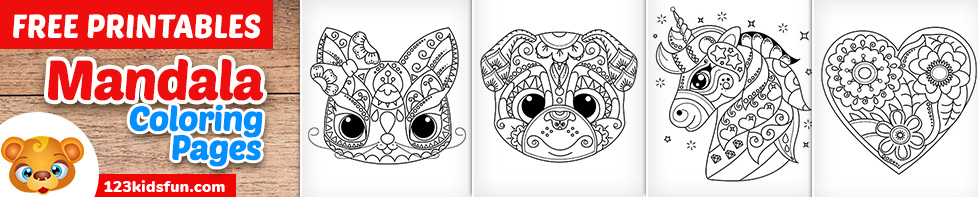 Free Printable Mandalas Coloring Pages for Kids