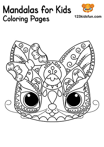 Easy Mandala Cat Coloring Pages - Free Printable Mandalas for Kids