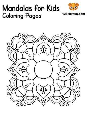 Easy Mandalas for Kids - Mandalas Coloring Pages Free Printable