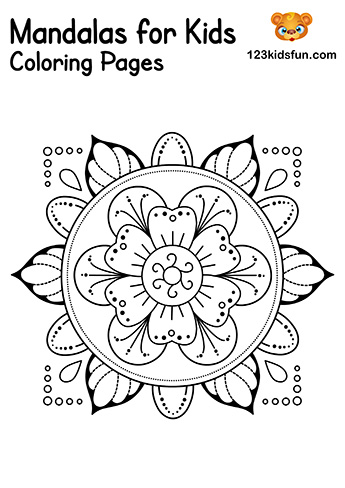 Easy Mandalas for Kids - Mandalas Coloring Pages Free Printable
