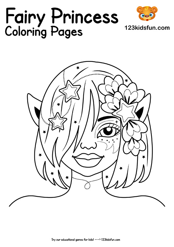 Beautiful Elf Princess Coloring Pages