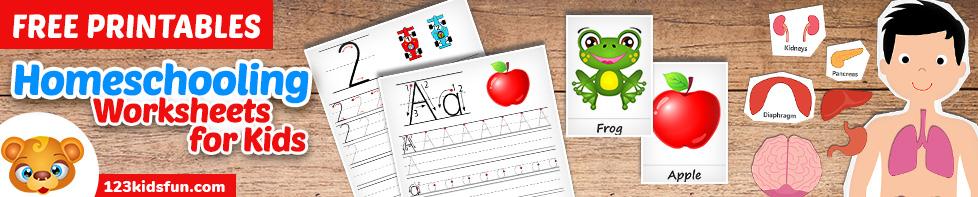 homeschooling worksheets for Kids
