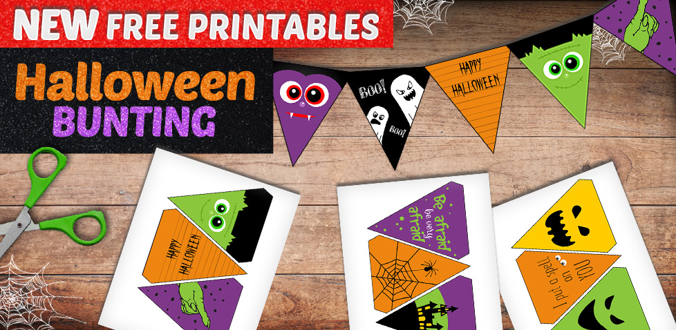 Halloween Bunting - Halloween Crafts for Kids