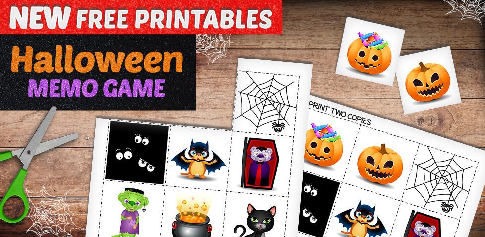 Halloween Memo Game - Halloween Crafts for Kids