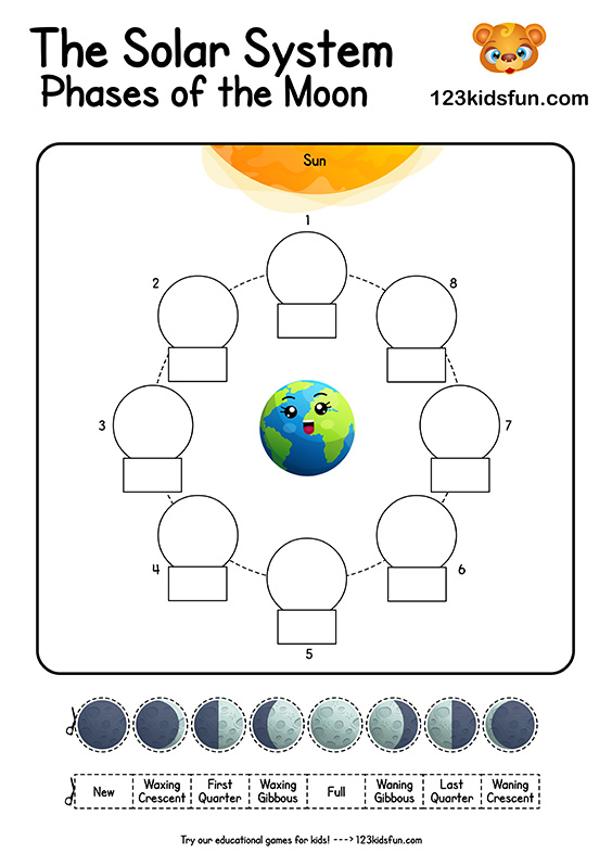 Moon Phases Worksheets - Free Printables