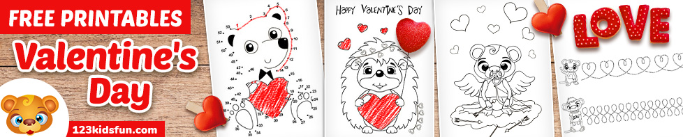 Free Valentine's Day Worksheets for Kids
