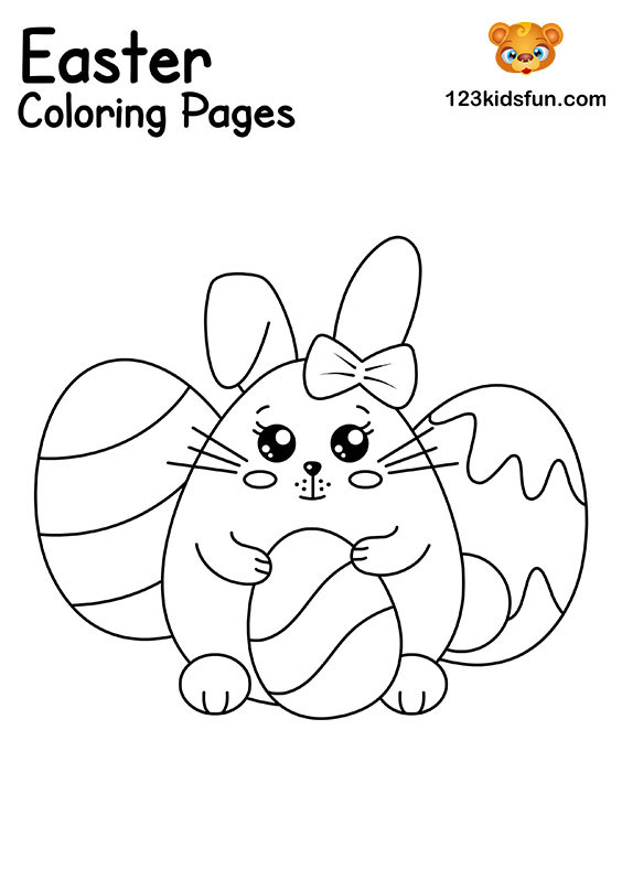 Easter Bunny - Easter Coloring Pages