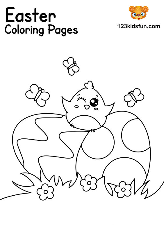 Easter Eggs - Easter Coloring Pages