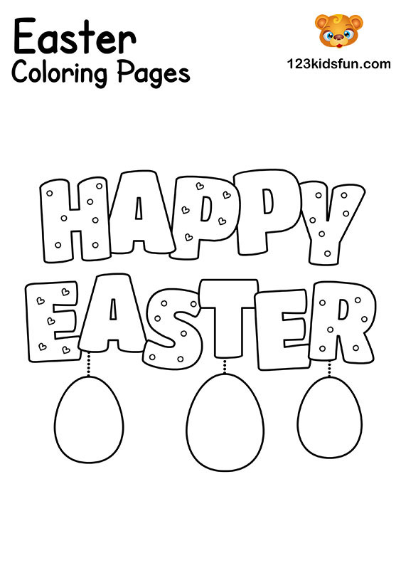 Happy Easter - Easter Coloring Pages