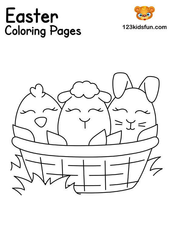 Easter Basket - Easter Coloring Pages