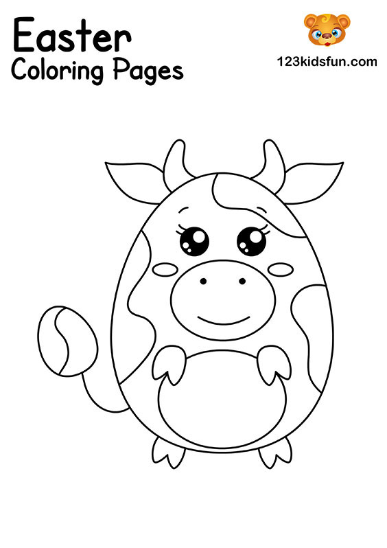 Easter Egg - Easter Coloring Pages
