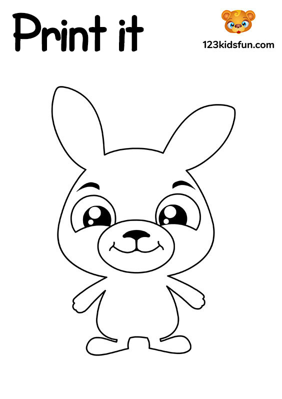 Sweet Bunny - Free Printable Coloring Pages for Kids