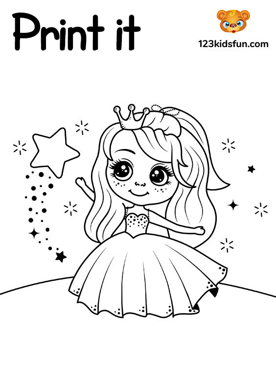 Princess - Free Printable Coloring Pages for Kids
