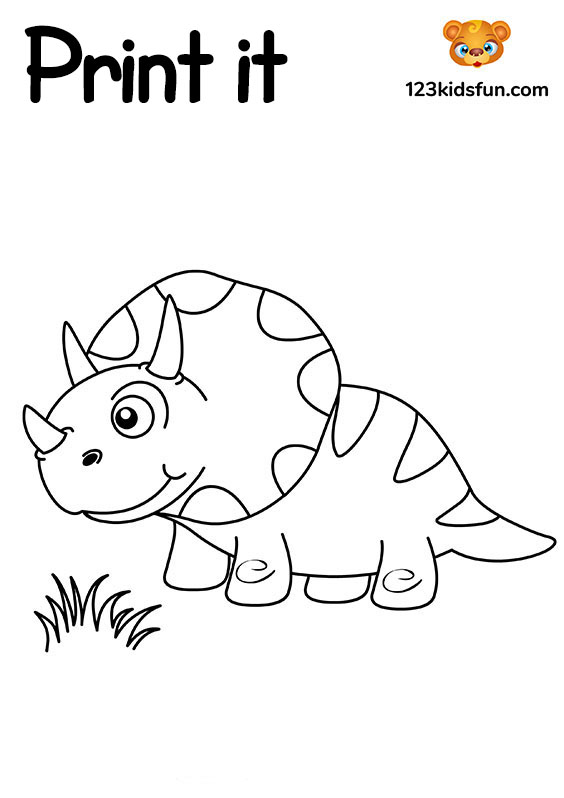 Dinosaur - Free Printable Coloring Pages for Kids