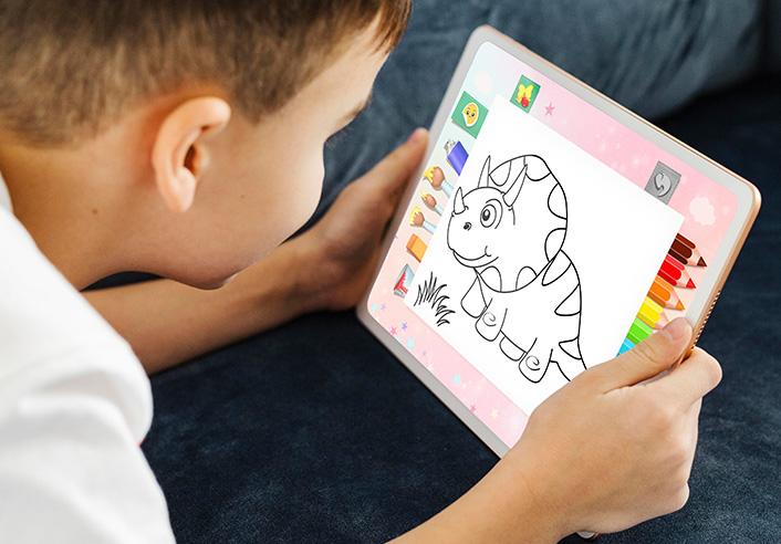 kids free coloring games