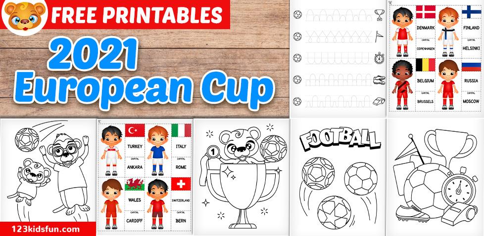 Euro 2020 - Football Worksheets for Kids