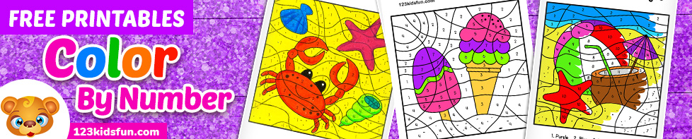 Free Color By Number for Kids Printable