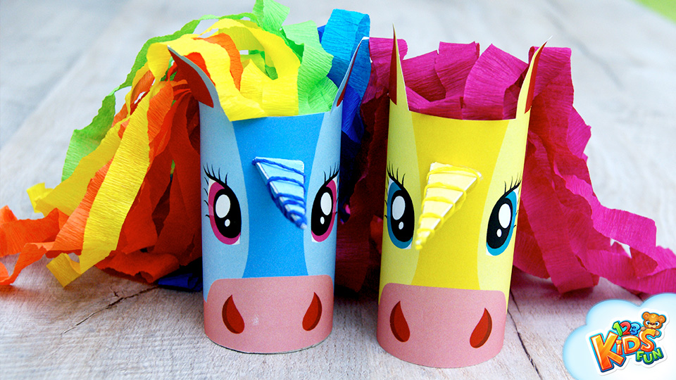 Paper Roll Easy Unicorn Craft for Kids